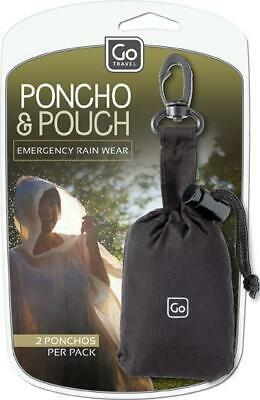 Go Travel Portable Poncho And Attachable Orange Carry Pouch Travel Luggage