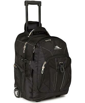 "High Sierra XBT 17"" Laptop Wheeled Backpack Black Travel Luggage"