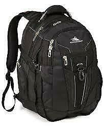 "High Sierra XBT 17"" Laptop Backpack Black Travel Luggage"