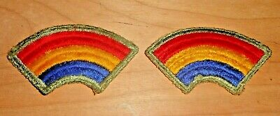 Lot of 2 Vintage WWII Rainbow Patch 42nd Infantry Division