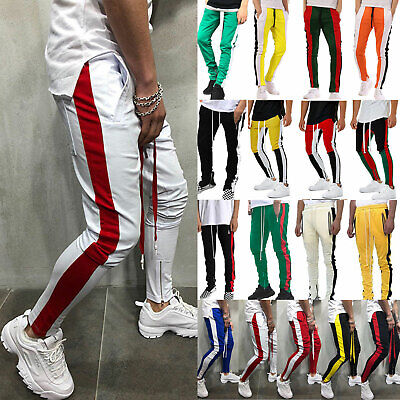 Mens Gym Bottoms Sports Pants Track Jogger Running Trousers Hip Hop Sweatpants