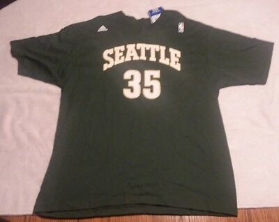 huge selection of 80027 6b26d SEATTLE SUPER SONICS KEVIN DURANT SHARP Looking ADULT Unisex XL GREEN Shirt  NWT
