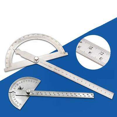 Stainless Steel 180 Degree Protractor Angle Rotary Measuring Ruler C1MY