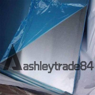 100mm 2pcs 7075 Aluminum Al Alloy Shiny Polished Plate Sheet 1mm 100mm