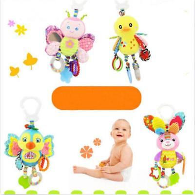 Baby Infant Rattles Plush Animal Stroller Hanging Bell Toys Doll Soft MA