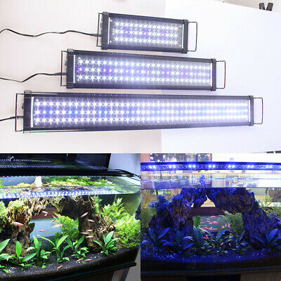 Aqua Aquarium Fish Tank LED Light Over-Head Lamp For 30cm-150cm Plants lighting