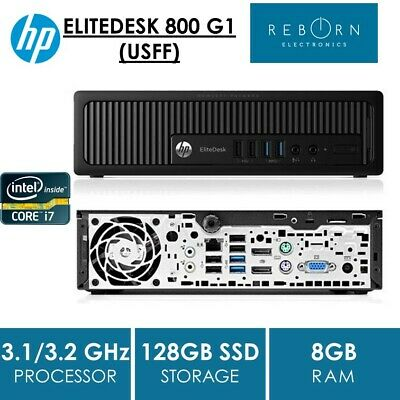 USFF, HP ELITEDESK 800 G1, i7-4790S/4770S, 8GB, 128GB SSD, NO OS, WIN 8 PRO COA
