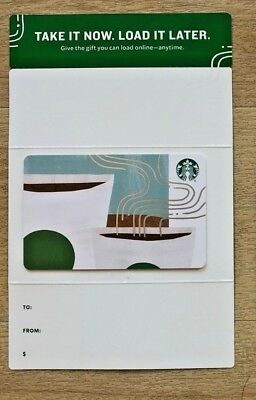 Starbucks 2018 Take It Now Load It Later Coffee Cups gift card