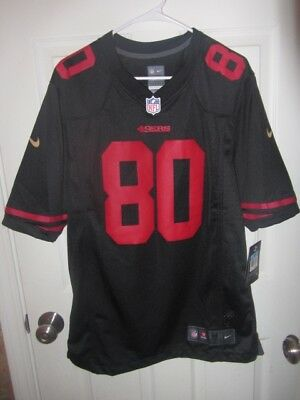 New NEW JERRY RICE San Francisco 49ers Men's M&N Black Rush Style  free shipping