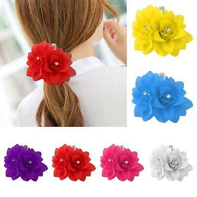 New Bridal Rose Flower Hair Clip Hairpin Brooch Wedding Accessorie Bridesmaid