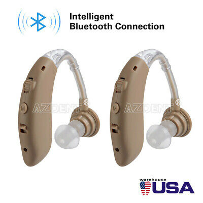 1PC Hearing Amplifier Rechargeable Digital Aid Adjustable Mini In Ear Tone US