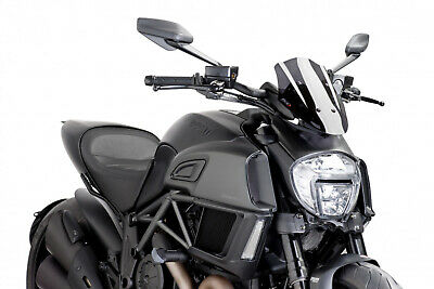 Puig Cupolino Naked Sport Ducati Diavel 2017 Fume Scuro