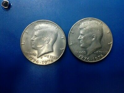 Usa Coin Lot Of Half Dollar 200 Years Of Freedom 1976 2 Pcs   # T1909