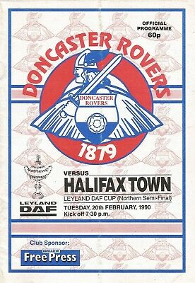 Doncaster Rovers v Halifax Town, 20 February 1990, Leyland DAF Semi-Final