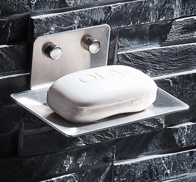 Wall Mounted Stainless Steel Brushed Nickel Soap Dish Holder Bathroom Accessory