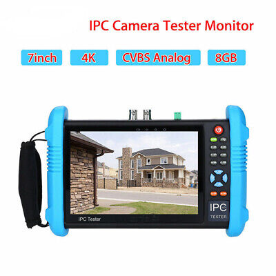 "7"" 4K 1080P IPC Camera CCTV Tester Monitor CVBS Analog Video Test IP Discovery"