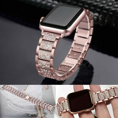 For Apple Watch Series 4/3/2/1 Bling Stainless Steel Watch Band 38/40/42/44mm AU