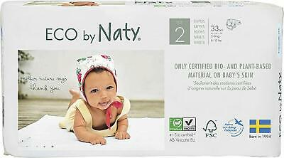 Eco by Naty Premium Disposable Baby Diapers for Sensitive Skin, Size 2, 4 Pack o