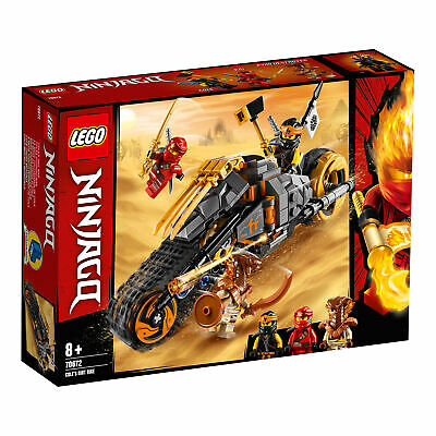 70672 LEGO Ninjago Cole's Dirt Bike with Caterpillar Tracks 212 Pieces 8 Years+