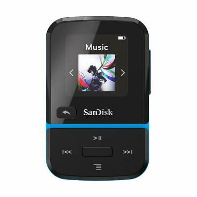 New SanDisk Clip Sport Go 32GB MP3 Player Blue with New Look and Features