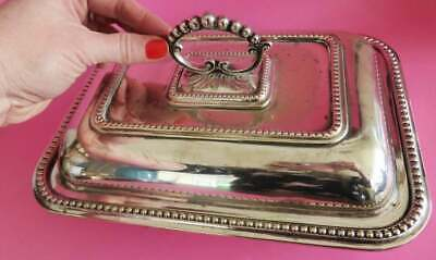 Beautiful Vintage Silver Plated Tureen, EPNS Antique Platter, 1920s Serving Dish