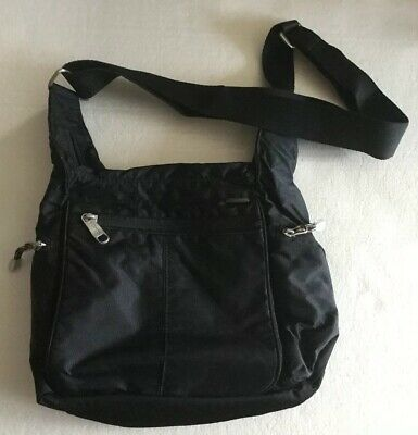 33d372538dd175 eBags Piazza Day Bag Black Crossbody/Shoulder Travel With Lots Of Pockets