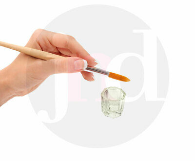 Glass Dappen Dish Crystal Octogonal Cup Pot Acrylic Nail Art Liquid Powder UK