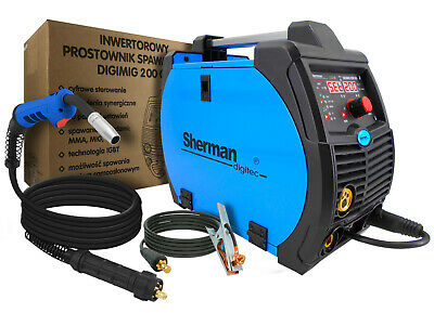 Sherman DIGIMIG 200GD MIG MAG MMA Brazing Digital 200amp Portable Welder Machine