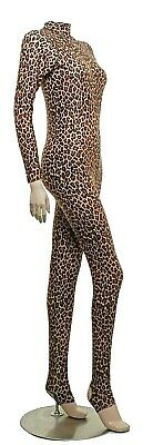 Catsuit Long Sleeves Polo Leopard Animal Print Dance Catsuit (Elsa)
