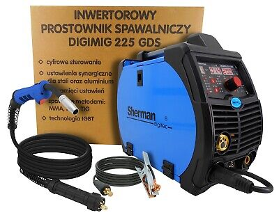 Sherman DIGIMIG 225GDS 220Amp Inverter welder MIG MAG TIG LIFT BRAZING SYNERGIC