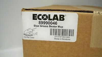 *NEW* Ecolab 89990046 Grease Beater Looped End Mop Blue (Qty- 12) FREE SHIPPING