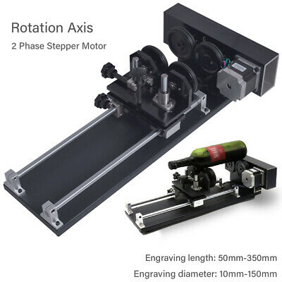 CNC Roller Rotation Axis for Laser Engraver Cutter Rotation Axis 2-Phase