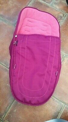 ICANDY peach 2 3  main seat  footmuff cosytoes fuschia pink
