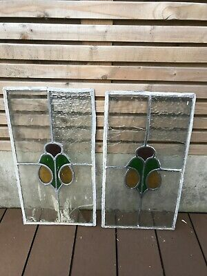 Original 1930s Art Deco leaded stained glass windows, Architectural.Decorarative