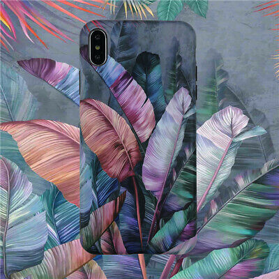 Retro Case Iphone 6 6s 7 8 Plus X Xs Max Xr Luxury Leaf Soft Phone Cover Pattern