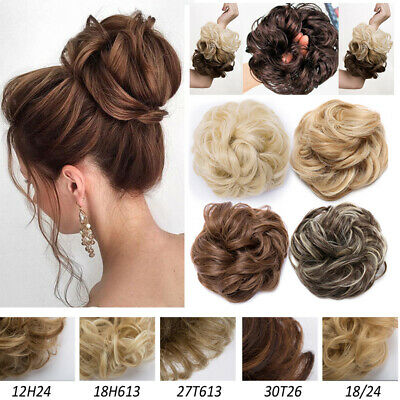 Thick/Plus Size 45g Thick Scrunchies Messy Bun Chignon Hair Extensions As Human