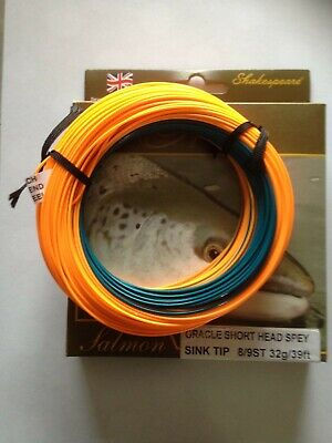 Shakespeare Oracle Salmon Short Head Spey Fly Line Float /& Sink Tip Fishing