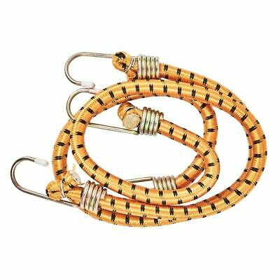 """2x 24"""" 60cm 10mm Heavy Duty Bungee Cord Luggage Straps Elastic Hook Camping etc"""