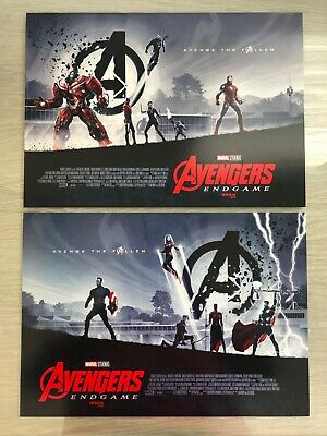 "AVENGERS ENDGAME AMC IMAX Exclusive 11"" x 15.5"" Week 1 & 2 Poster Set"