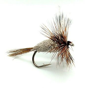 Fly Fishing Trout Fly ADAMS IRRESISTIBLE Size 8 Pack of Eight UK Packed #89