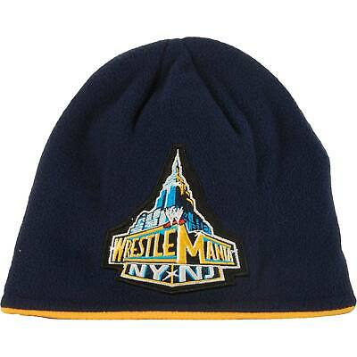 WWE Men's Wrestlemania Beanie Black