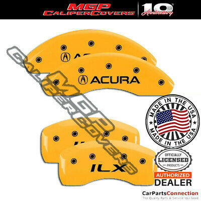MGP Caliper Brake Cover Yellow 39012SILXYL Front Rear For Acura ILX 2014-2015