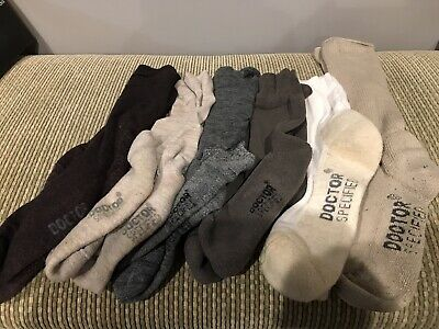 6 Pair Nice Doctor Specified By Foot Zen Casual Crew Socks Size Large