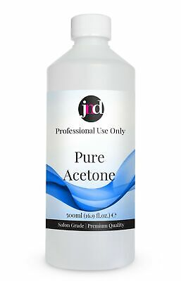 Pure Acetone Salon Grade Quality Nail Polish Remover UV | LED Gel Soak-Off 500ml