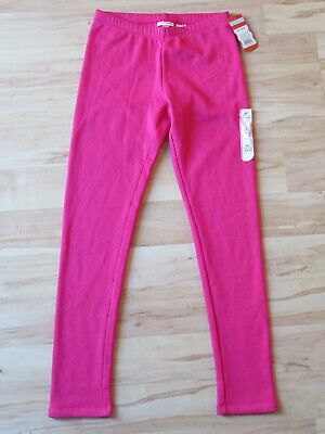 New Girl's Cat & Jack Dark Pink Fleece Lined Full Length Leggings Size XL 14/16