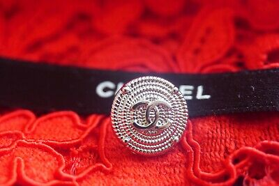 ❤CHANEL BUTTONS lot of  6  size 12 mm 0,5 incn logo CC silver tone