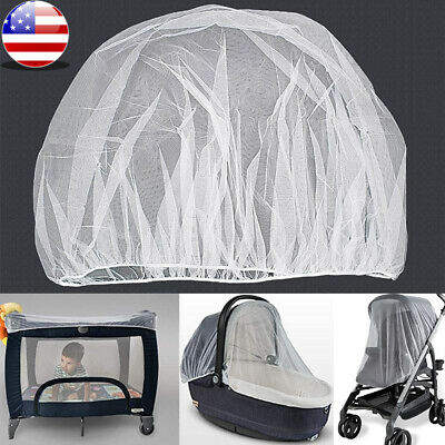 NEW Universal Baby Stroller Mosquito Insect Net Cover Fit Pram Bassinet Car Seat