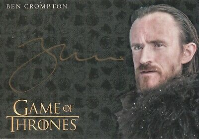 Game of Thrones Inflexions, Ben Crompton 'Edison Tollett' Autograph Card