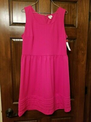 6d26cfa2e1 Merona Target Sleeveless Bright Pink Dress Size Large Never Worn NWT