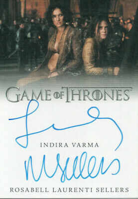 Game of Thrones Inflexions, Indira Varma / Rosabell Dual Autograph Card